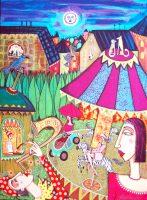 Angelica Wiik Karusell 60x43cm