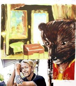 är detta ett minne blott av Ernst tidigare verk med djur som centrum i hans bilder?
