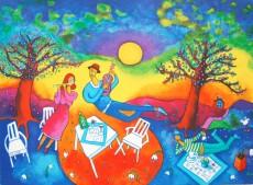 Ingrid Roth 28x38cm Musik picknick