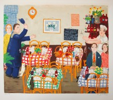 Lennart Jirlow Lunchen 1976 56x73cm 46x61cm