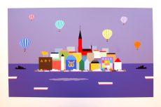 KG Nilson dream city 49,5x73cm 40x63cm